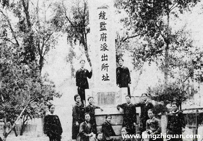 日伪时期的龙井统监府派出所址纪念碑