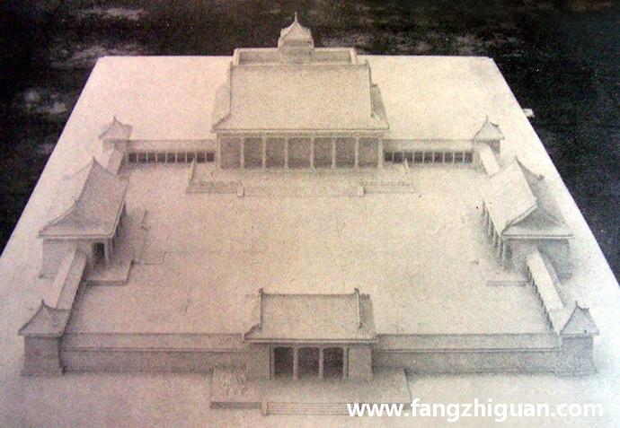 日本人制作的石膏材质的伪满洲国建国忠灵庙内廷模型