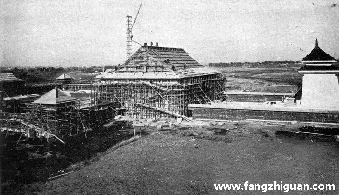 建设时期的伪满洲国建国忠灵庙内廷建筑