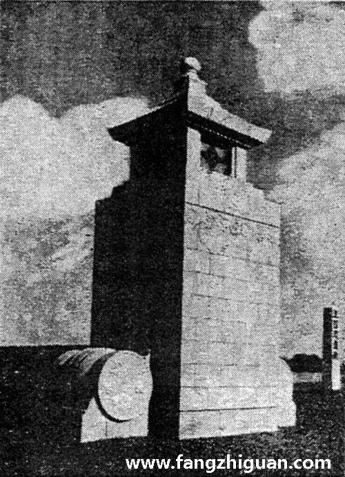 门柱:共两组,下部石鼓夹抱,上方为石灯造型。(现湖波路遗存一组)