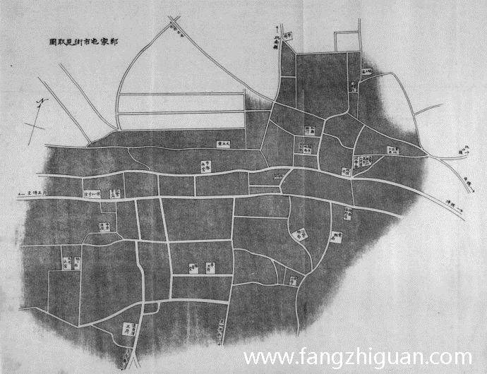 1915年,郑家屯市街见取图