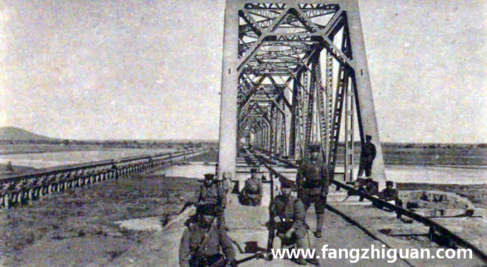 九一八事变后,被日军占领的郑家屯洮南线铁桥