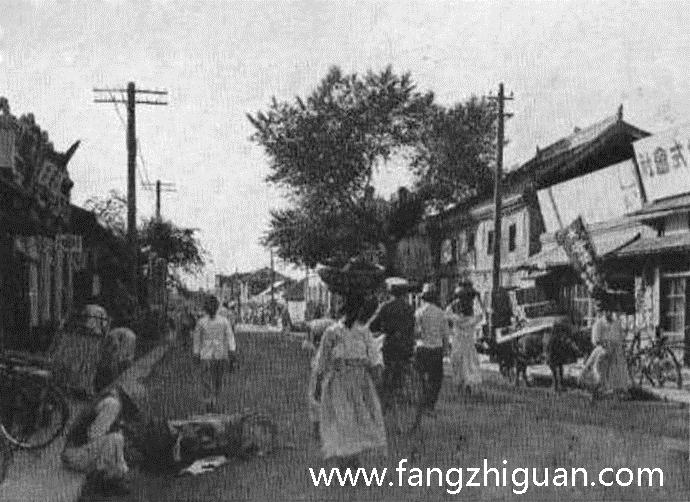 日伪时期的龙井市街