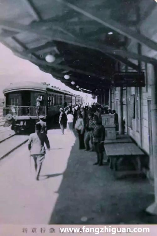 伪满时期的图们火车站内外