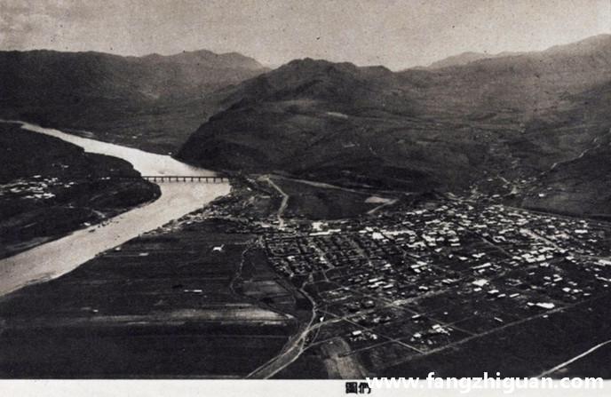 日伪时期的图们市街远景及航拍图