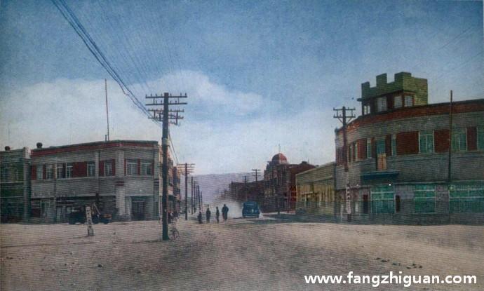 日伪时期的图们市街