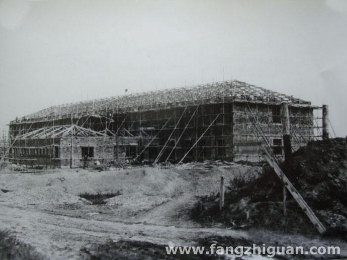 侵华日军在敦化建造的兵舍(现敦化市运输公司院内,另有一处在敦化市第三小学院内),拍摄于1938年7月。