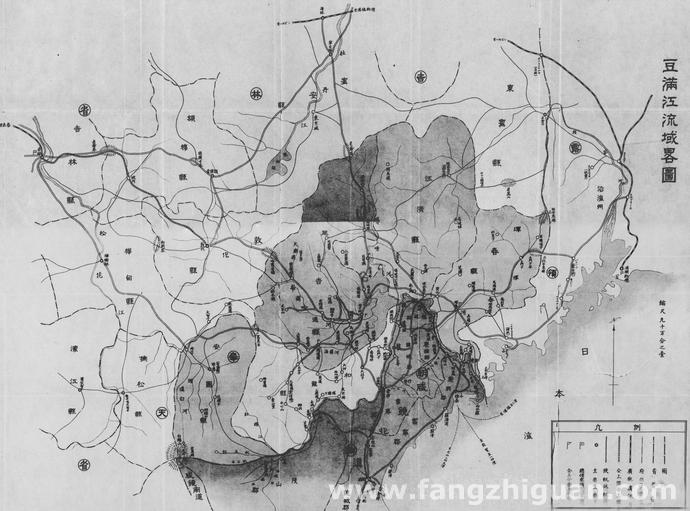 日伪时期的豆满江(图们江)流域略图