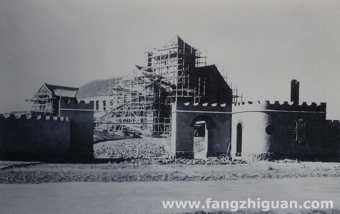 建设中的伪满洲国国务总理大臣张景惠官邸