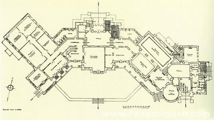 原伪满洲国外交部建筑一层平面图