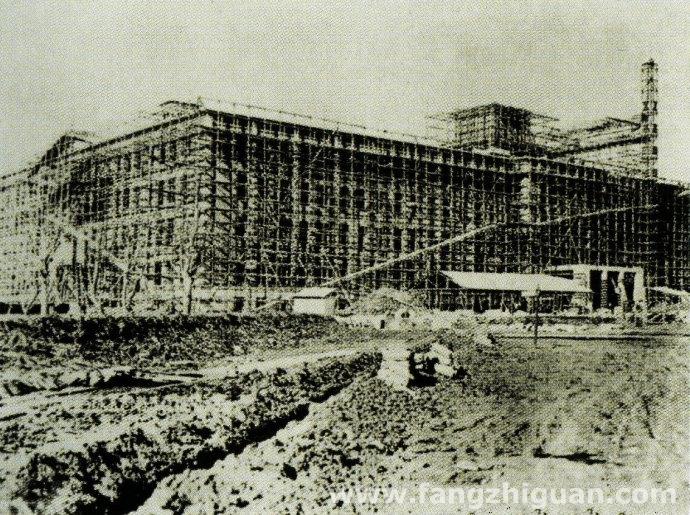 建设中的满洲电信电话株式会社大楼