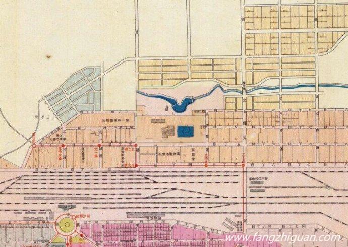 1939年,最新新京市街地图上的新京发变电所和水源地