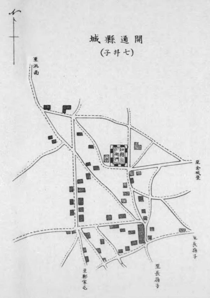 开通县城(七井子,1915年)